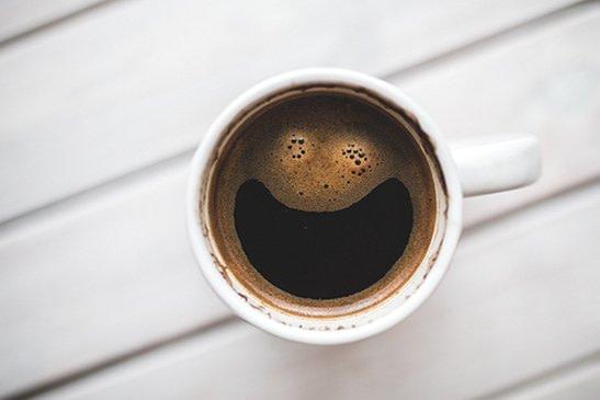 birds eye view of coffee