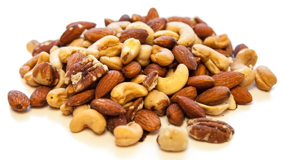 almonds and cashews and other variety of nuts