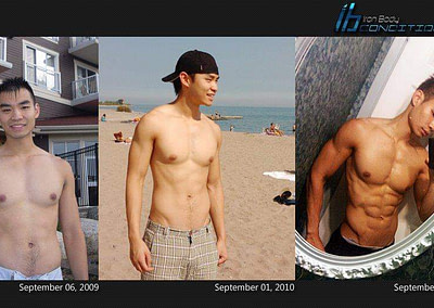 andy personal trainer before and after asian muscle gain