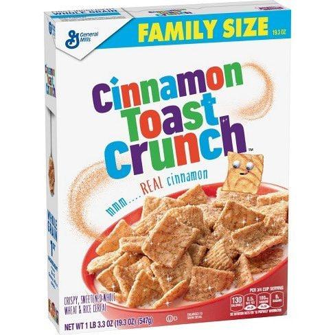 cinnamon toast crunch cereal box