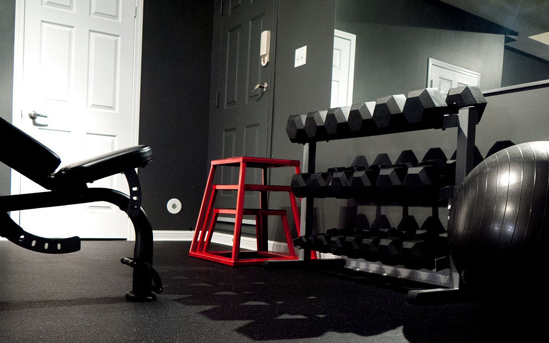 workout equipments at personal training studio
