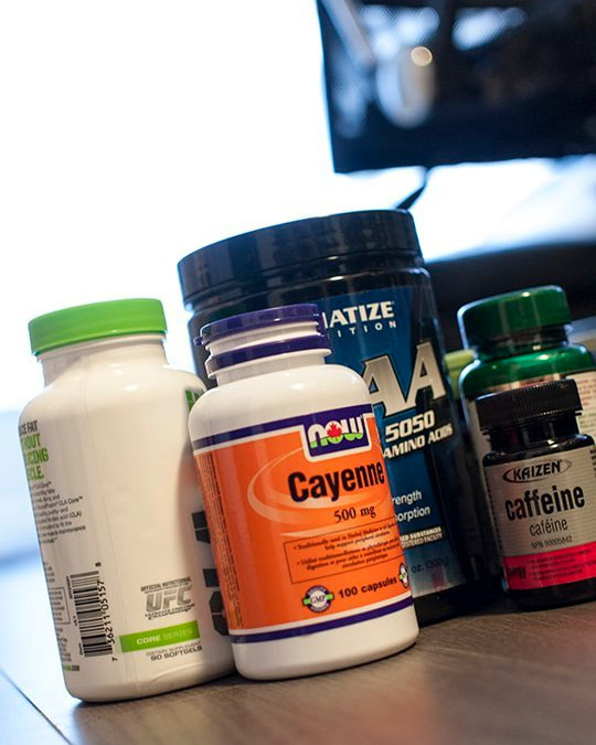 variety of health supplements