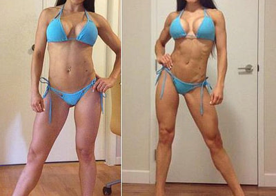 claudia bikini before and after lux fit personal trainer