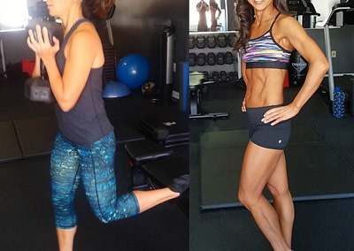 asian client before and after at lux fit personal training