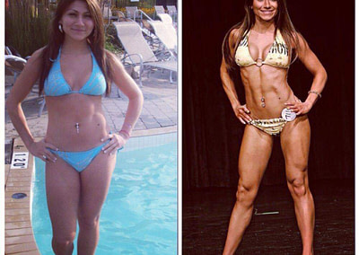 claudia bikini before and after competition lux fit