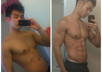 andy before and after asian personal trainer